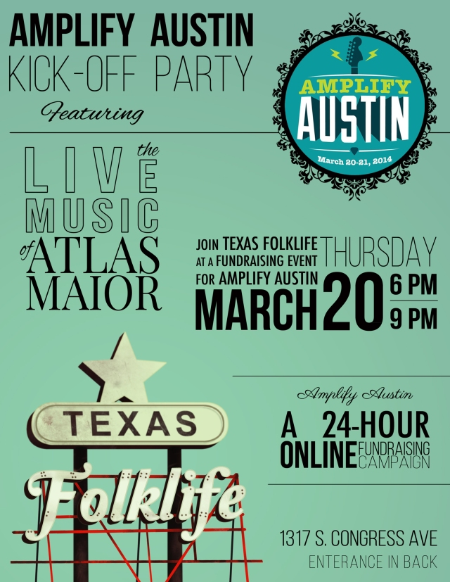 Texas Folklife Amplify Austin Kick-off Party featuring Atlas Maior 3/20/2014